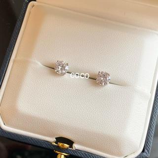 最高級 人工ダイヤモンド 一粒ダイヤピアス 5mm