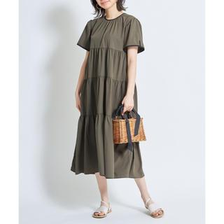 BEAUTY&YOUTH UNITED ARROWS - 新品 ノスタルジア 配色ティアードワンピ スカート  ブラウス シャツ