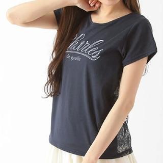 イーハイフンワールドギャラリー(E hyphen world gallery)のE hyphen world galleryバックレースロゴプリントTシャツF (Tシャツ(半袖/袖なし))