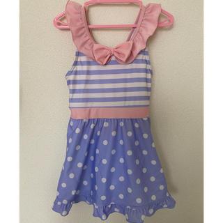 西松屋 - 水着   女の子用 サイズ130  ピンク ラベンダー