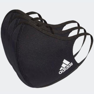 adidas - アディダス マスク ブラック 3枚セット