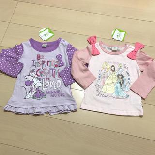 Disney - 新品 ディズニー 長袖カットソー ロンT  Tシャツ ベビー 90