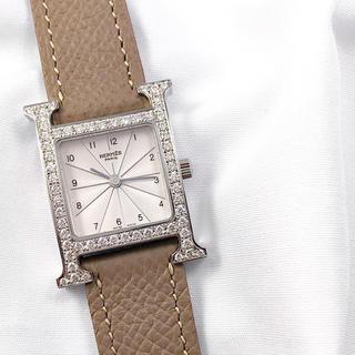 エルメス(Hermes)の【仕上済】エルメス Hウォッチ シルバー ダイヤ レディース 腕時計(腕時計)