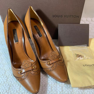 LOUIS VUITTON - 極美品 ルイヴィトン パンプス 36 1/2 23.5 レザー ブラウン