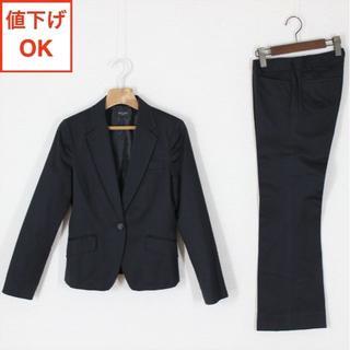 OFUON - オフオン パンツスーツ 36 黒 S 綿 コットン tqe ★美品★