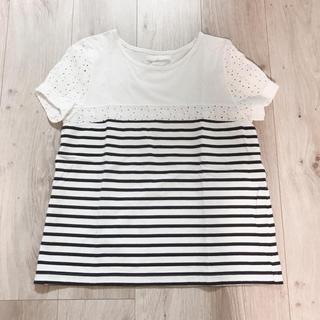 アーバンリサーチ(URBAN RESEARCH)のレースボーダーTシャツ(Tシャツ(半袖/袖なし))