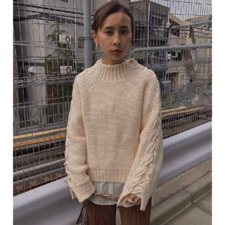 Ameri VINTAGE - アメリヴィンテージ UNDRESSED SHIRT LAYERED KNIT