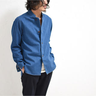 COMOLI - スタンドカラー デニムジャケット M グリーンインディゴ