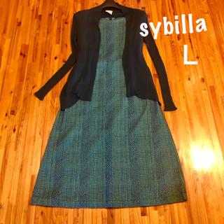 Sybilla - シビラ《洗える》総刺繍ワンピース L 日本製 49,000円+税