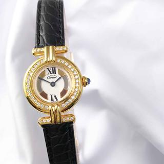 カルティエ(Cartier)の【OH済】カルティエ コリゼ ゴールド トリニティ ダイヤ レディース 腕時計(腕時計)