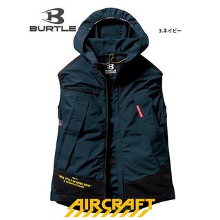 バートル(BURTLE)のバートル  エアークラフト 空調服 ベスト2.3回使用ネイビー  AC1134 (その他)