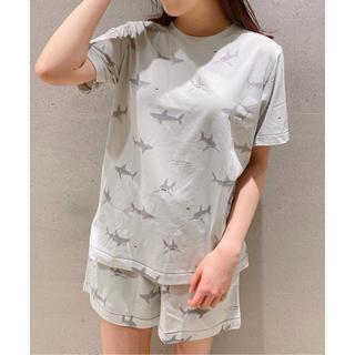 gelato pique - ジェラートピケ新品シャークプリント半袖Tシャツ&ショートパンツセット☆グレー