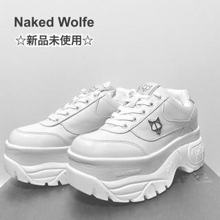 Balenciaga - 新品 Naked Wolfe 厚底スニーカー 白 アリアナグランデ