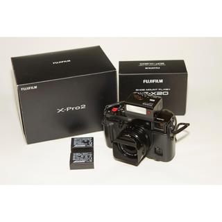フジフイルム(富士フイルム)のフル装備 美品 Fujifilm X-pro2 18mm F2レンズ付き(ミラーレス一眼)