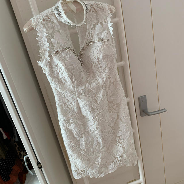 JEWELS(ジュエルズ)のJewels 白レース タイトドレス キャバドレス レディースのフォーマル/ドレス(ナイトドレス)の商品写真