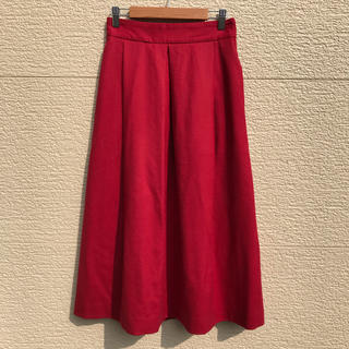 ビューティアンドユースユナイテッドアローズ(BEAUTY&YOUTH UNITED ARROWS)のユナイテッドアローズ スカート 赤(ロングスカート)