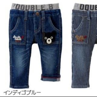 DOUBLE.B - 新品タグ付ミキハウス ダブルビー ポケットに刺繍つき☆ストレッチジーンズ 110