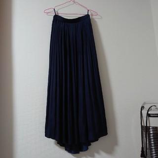 OFUON - 値下げ ネイビープリーツロングスカート