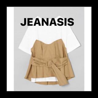JEANASIS - ビスチェTシャツ ベージュ ペプラム JEANASIS