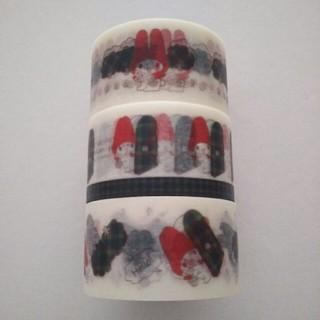 サンリオ(サンリオ)のマイメロディ×マクミラン マスキングテープ3個セット 伊勢丹 サンリオ カモ井製(テープ/マスキングテープ)