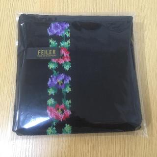FEILER - 【新品未使用】FEILER 花柄タオルハンカチ 大きめ