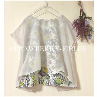 STRAWBERRY-FIELDS - ストロベリーフィールズ ◆ 野花柄シフォントップス ◆ 日本製