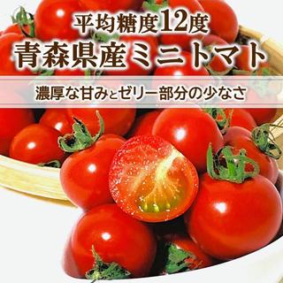 【甘みにこだわり】平均糖度12度 高糖度ミニトマト 2品種 約1kg 青森県産(野菜)