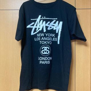 "STUSSY - STUSSY""World Tour"" Tシャツ black【新品・未使用】"