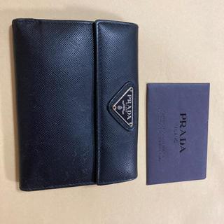 PRADA - PRADA プラダ 二つ折り財布 黒