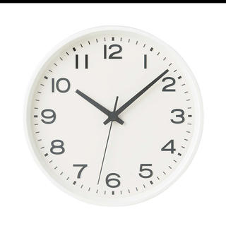 ムジルシリョウヒン(MUJI (無印良品))のアナログ時計・大 掛時計・ホワイト 無印良品(掛時計/柱時計)