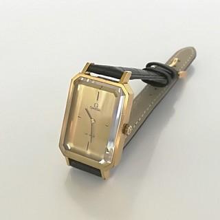 OMEGA - ⭐OH済 綺麗 オメガ K18GP レザー メンズ レディースウォッチ時計 美品
