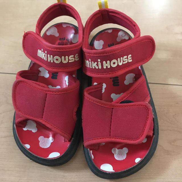 mikihouse(ミキハウス)のミキハウス 赤サンダル キッズ/ベビー/マタニティのキッズ靴/シューズ(15cm~)(サンダル)の商品写真