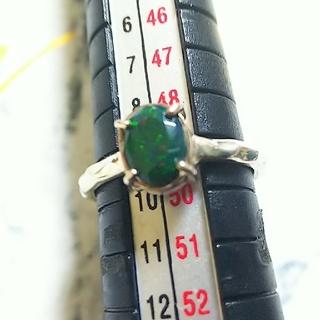 silver1000 グリーンオパール リング 9号(リング(指輪))