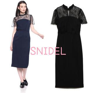 snidel - レーススリーブワンピース SNIDEL スナイデル オケージョン