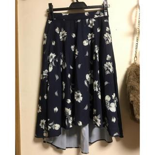 マーキュリーデュオ(MERCURYDUO)の花柄フレアスカート(ロングスカート)