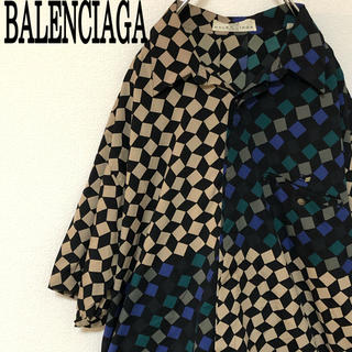 Balenciaga - BALENCIAGA バレンシアガ シャツ 半袖 総柄 古着 L