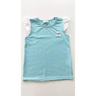 ティーケー(TK)の120cm、肩フリルノースリーブカットソー(Tシャツ/カットソー)