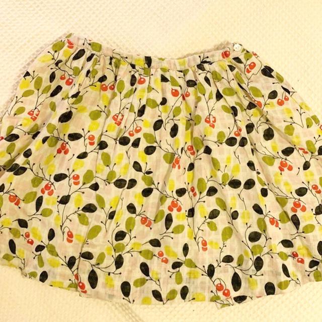 Bonpoint(ボンポワン)のbonpoint  ボンポワン オリーブ柄セットアップ 4A キッズ/ベビー/マタニティのキッズ服女の子用(90cm~)(ブラウス)の商品写真