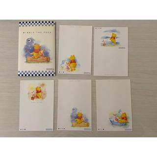 クマノプーサン(くまのプーさん)のくまのプーさん 50円はがき 5枚セット(使用済み切手/官製はがき)