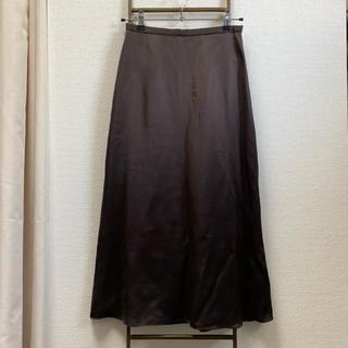 ビューティアンドユースユナイテッドアローズ(BEAUTY&YOUTH UNITED ARROWS)のBeauty&youth 新品サテントラペーズスカート(ロングスカート)