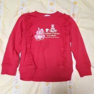 バンダイ(BANDAI)のsize110プリキュアアラモード赤トレーナーBANDAI洗濯済み❣️送料無料(Tシャツ/カットソー)