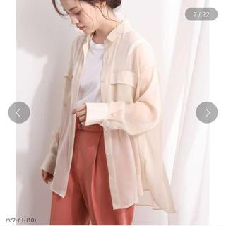 ヴィス(ViS)のsanaさんへ Vis シアーシャツ ベージュ(シャツ/ブラウス(長袖/七分))