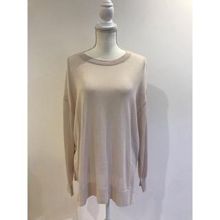 ジーユー(GU)の(新品未使用)gu シアーオーバーサイズセーター(長袖)(ニット/セーター)
