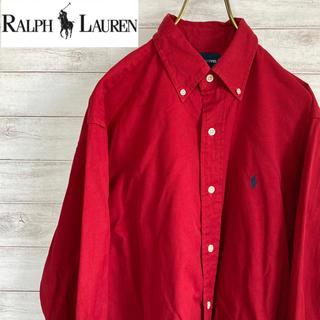 ラルフローレン(Ralph Lauren)のMサイズ 古着 シャツ ラルフローレン 赤 ビッグシルエット(シャツ)
