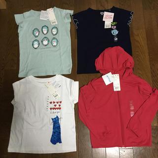 UNIQLO - 新品 ユニクロTシャツ3枚とエアリズムUVカットパーカー 120サイズまとめ売り