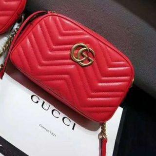 Gucci - ☆極美❥品☆GUCCI キルティングスモールショルダ♧ーバッグ