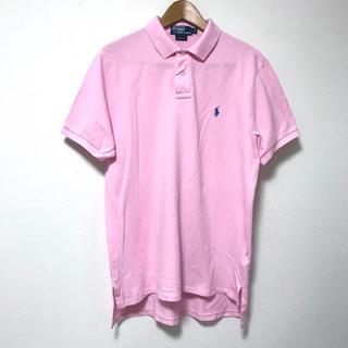 ポロラルフローレン(POLO RALPH LAUREN)の定1.6万 ポロラルフローレン  コットン鹿の子半袖ポロシャツL/180 ピンク(ポロシャツ)