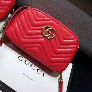 Gucci - ☆●極美品◐☆GU◒CCI キルティングスモール❥ショ♤ルダーバッグ