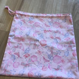 ●ハンドメイド●巾着袋35×35 貝殻*シェル ピンク(ランチボックス巾着)