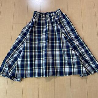 エニィファム(anyFAM)のチェック柄スカート(ロングスカート)